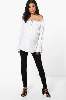 boohoo Maternity High Waisted Over The Bump Skinny Jean