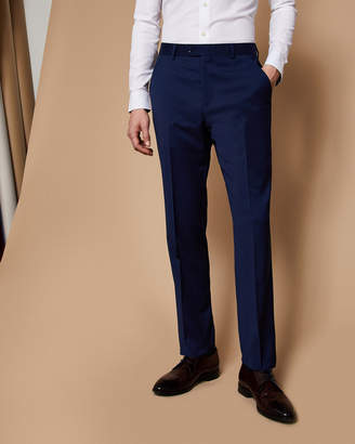 Ted Baker CASTLET Slim fit plain wool suit pants