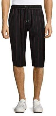 Versace Striped Wool Shorts