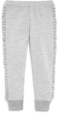 Design History Girls' Ruffle Trim Jogger Pants - Little Kid