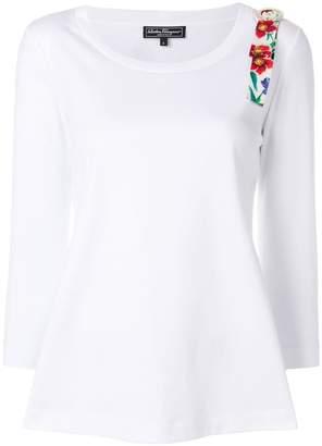 Salvatore Ferragamo floral shoulder strap jumper