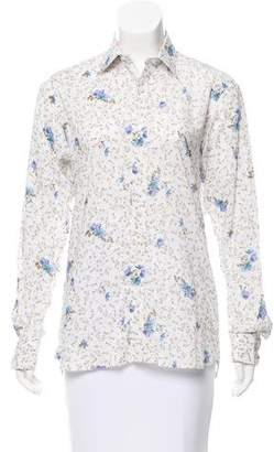 Ted Baker Floral Button-Up Top
