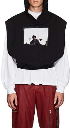 UPSTAIRS AT ERIC'S Men's Cotton Terry Cutout Crop Hoodie