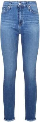 AG Jeans The Farrah Skinny Ankle Frayed Hem Jeans