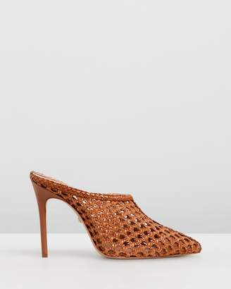 Schutz Woven Leather Mules
