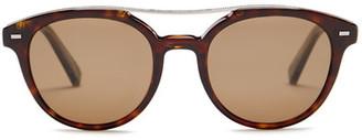 Ermenegildo Zegna Women&s Acetate Round Sunglasses $335 thestylecure.com