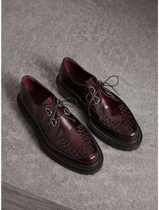 Burberry Woven-toe Leather Lace-up Shoes