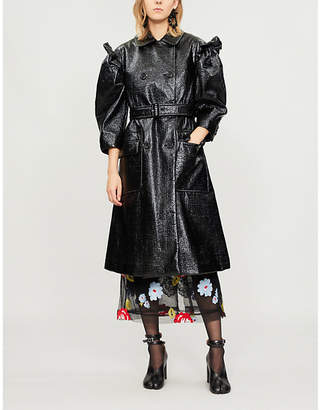 Simone Rocha Puffed-sleeve coated jacket