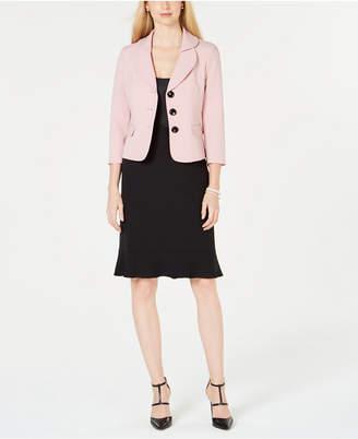 Le Suit Petal-Lapel Skirt Suit