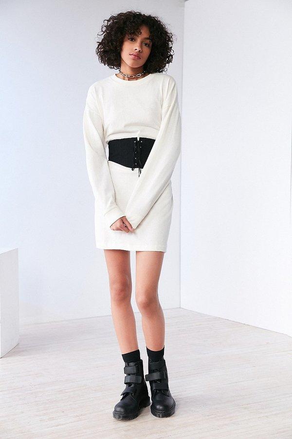 BDG Maeby Oversized Long-Sleeve T-Shirt Dress