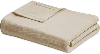 Madison Park Freshspun Cotton Basketweave Full/Queen Blanket Bedding