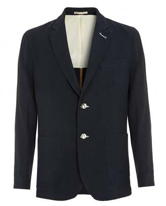 Mens Waffle Jacket, Navy Blue Blazer