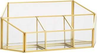 Pottery Barn Teen Skyline Divided Desktop Organizer, Glass/Gold