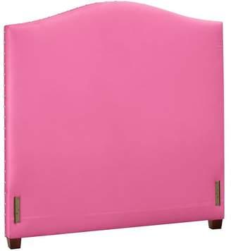 Pottery Barn Teen Raleigh Camelback Nailhead Headboard, Twin, Velvet, Pink Magenta