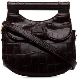Staud brown Madeline Crocodile Effect leather Shoulder Bag