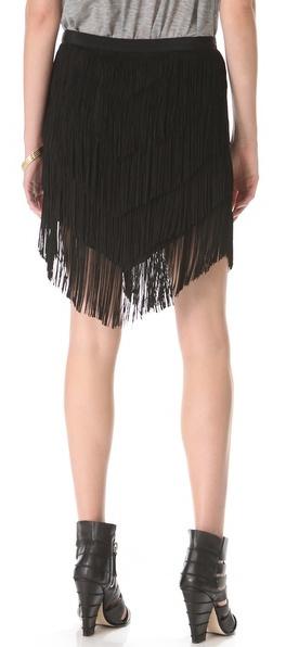 Haute Hippie Fringe Mini Skirt