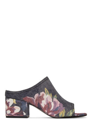 3.1 Phillip Lim Blue Floral Cube Sandals $450 thestylecure.com