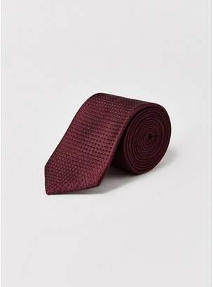 Topman Mens Red Premium Burgundy Silk Tie
