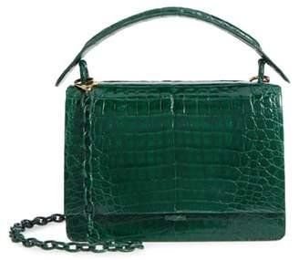 Nancy Gonzalez Divino Genuine Crocodile Top Handle Bag