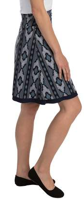 "Colorado Clothing Tranquility 21"" Print/Solid Reversible Skirt"