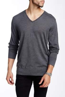 John Varvatos Collection V-Neck Wool Sweater