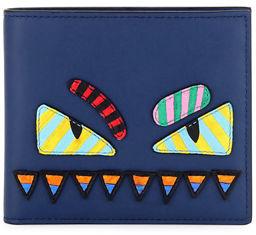 Fendi Monster Eyes Striped Wallet $600 thestylecure.com