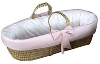 Baby Doll Bedding Gingham Trim Moses Basket