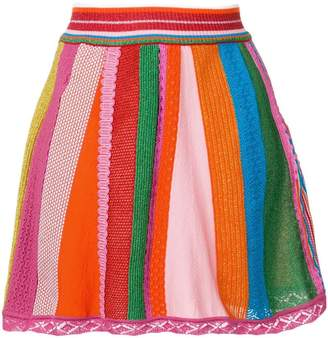 Moschino intarsia knit skirt