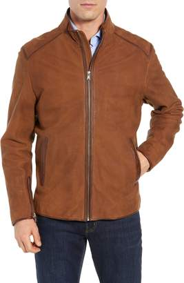 FLYNT Regular Fit Leather Moto Jacket