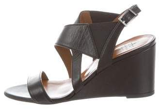 Aquatalia Leather Wedge Sandals