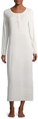Hanro Flora Long-Sleeve Nightgown