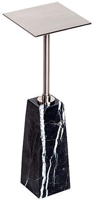 Interlude Arnold Drinks Table - Marbled Black