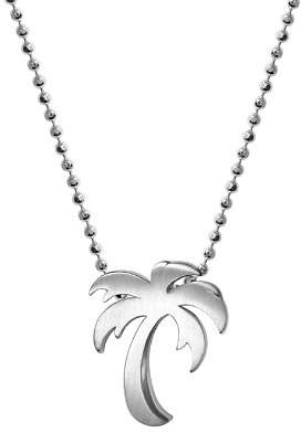 """Alex Woo Silver Cities Palm Tree Necklace, 16"""""""