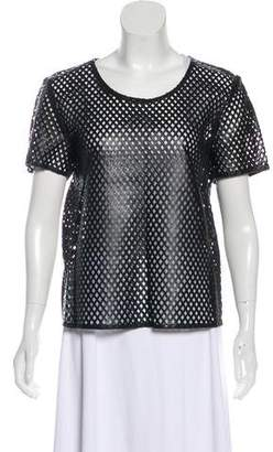 Burberry Leather Laser-Cut Top w/ Tags