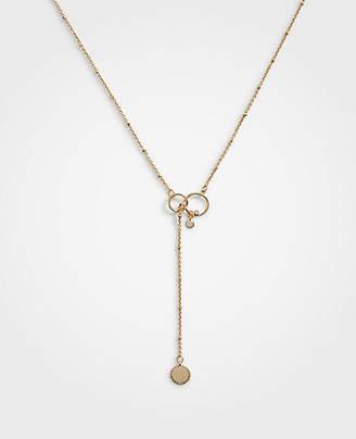 Ann Taylor Disc Lariat Necklace