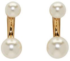Chloé Gold Darcey Double Pearl Earrings
