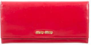 Miu MiuMiu Miu Leather Logo Wallet