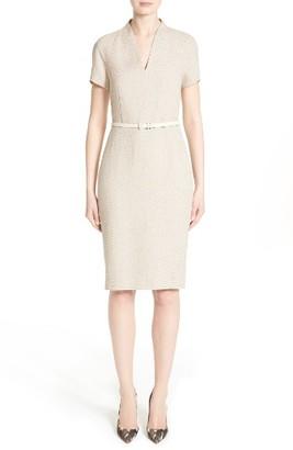 Women's Max Mara Azeglio Belted Linen Sheath Dress $895 thestylecure.com