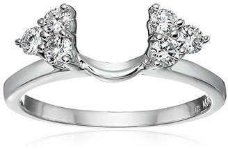 14k Gold Round Diamond Solitaire Engagement Ring Enhancer (1/3 carat