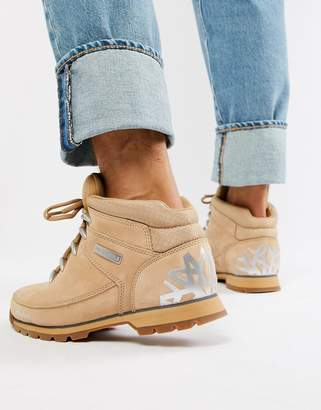Timberland Euro sprint reflective hiker boots in beige