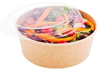 clear Plastic Lid for Round Bio Salad Container - 25 oz - Disposable - 200ct Box - Restaurantware