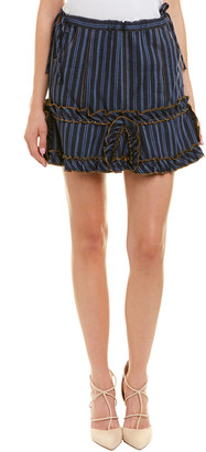Anna Sui Wanderlust Linen-Blend Mini Skirt
