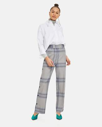 Topshop Checked Popper Trousers