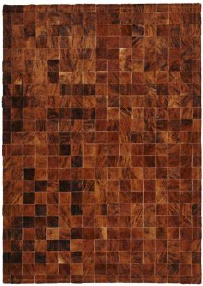 """ABC Home Cowhide Patchwork Rug - 3'11""""x5'11"""""""
