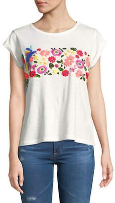 Joie Dakara Embroidered Cotton Top