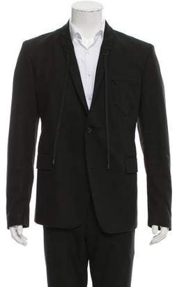 Diesel Drawstring Two-Button Blazer