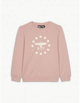 Boy London Eagle logo cotton sweatshirt 3-12 years