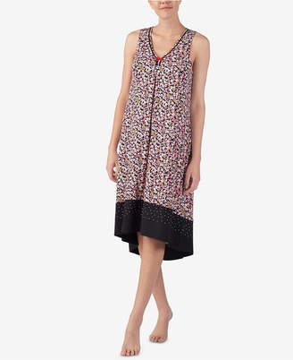 Ellen Tracy Printed Sleeveless Nightgown
