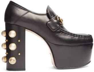 Gucci Vegas leather platform loafers