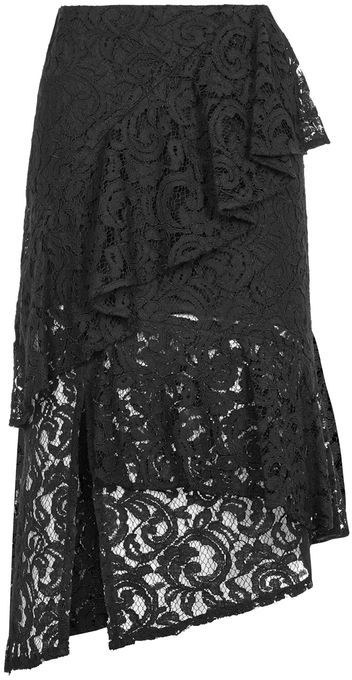 TopshopTopshop Lace ruffle midi skirt